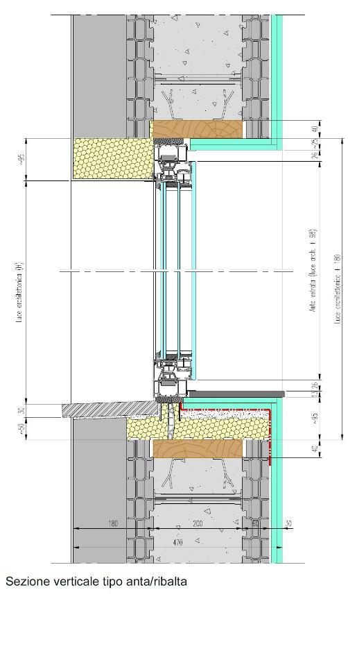 Esempio di posa 2 serramenti in alluminio sottobancali for Finestra scorrevole verticale
