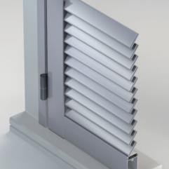 Scuri in alluminio - sistema persiana ad anta con lamelle fisse