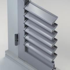 Scuri in alluminio - persiana ad anta con lamelle orientabili