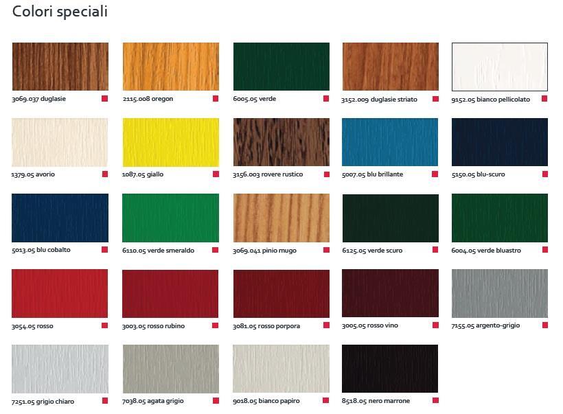 Serramenti in pvc sistema alphaline 90 for Colori finestre pvc