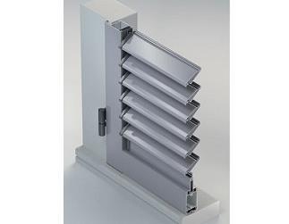 Scuri in alluminio - sistema persiana ad anta con lamelle orientabili