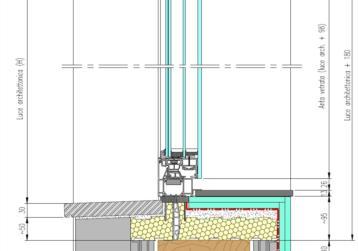 Esempio di posa 2: serramenti in alluminio + sottobancali